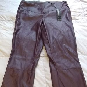 Blank NYC Burgundy Vegan Leather Pants NWT